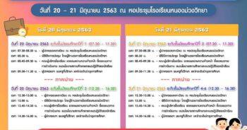กำหนดการประชุมผู้ปกครองนักเรียนประจำภาคเรียนที่ 1 ปีการศึกษา 2563